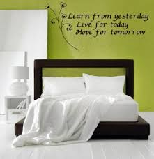 bedroom wall design ideas. Inspirational Words Written On The Wall Bedroom Design - Thematic And Decoration Ideas