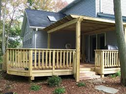 Backyard Deck Design Ideas Impressive Wood Deck Railing And Spindles Vinyl Rails Decks R Us Patio Deck