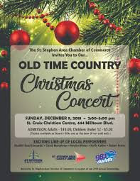 Christmas Concert Poster Old Time Country Christmas Concert St Stephen Area Chamber Of