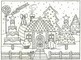 Small Picture Gingerbread House Coloring Pages Coloring Pages