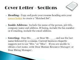 Heading Of A Cover Letter Resume Cover Letter Heading Resume Cover