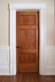 white interior door styles. Custom 3 Panel Quarter Sawn White Oak Interior Door With Craftsman Style Painted Casing And Base Blocks. Styles E