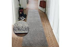 details about modern hall runners soft gy carpet 5cm gray width 50 200cm extra long rugs