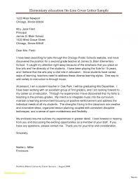 Sample Elementary Teaching Resume Teacher Cover Letter Template Best