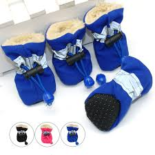 4pcs Waterproof <b>Winter Pet Dog</b> Shoes Anti slip Rain <b>Snow</b> Boots ...