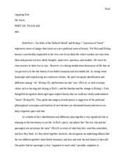 a small place kim kincaid s ethos in two different perspective  5 pages