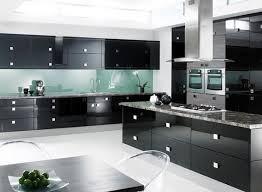 modern black kitchen cabinets. Kitchen Modern Black With Cabinets D