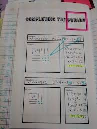 math love algebra solving quadratics inb pages completing the square picture juxtaposed with the algebra would be a great way to improve intro next