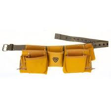 carpenter tool belt. 11-pocket contractor apron, yellow carpenter tool belt