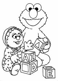 Baby Sesame Street Coloring Pages Hasshecom