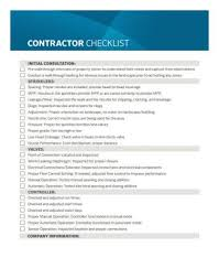 Contractor Checklist Contractor Checklist Makes Irrigation Water Saving Inspections Easy