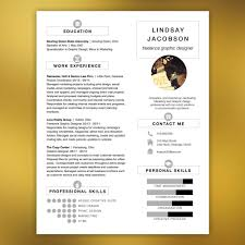 Professional Resume Template Free Cover Letter And References Instant Download Infographic Elements Jacobson
