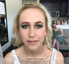 angela tam wedding makeup artist and hair stylist team soft natural eyes makeup los angeles orange county ventura