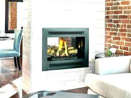 double sided wood burning fireplace indoor outdoor two gas cost of