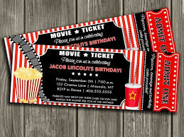 Movie Invitation Template Free Movie Invitation Template Free Business Investment Contract Sales 3