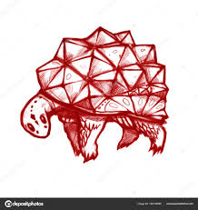 черепаха кристалл оболочки стилизованный черепаха стиль иллюстрации