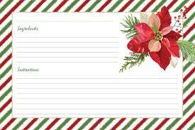 Christmas Recipe Card Free Printable Christmas Recipe Cards