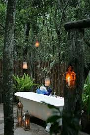 Outdoor bath at Richard's Camp on the Masai Mara Kenya. My dream garden tub!