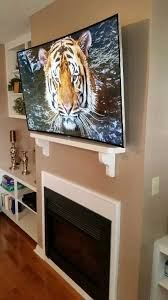 curved tv on wall. Beautiful Curved Curved TV Mounted All Cables Hidden And Tv On Wall
