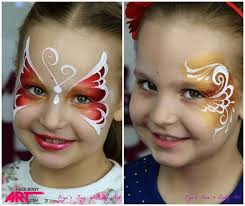 both of these designs are being stud at the international face painting school