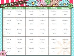 Images Of Workout Schedule Template Printable Weekly Via Free Log ...