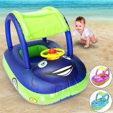 Summer Steering Wheel Sunshade <b>Swim Ring</b> Car <b>Inflatable Baby</b> ...