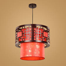 china classical pendant light wood pendant lamps balcony light restaurant corridor hotel restaurant decorative lamps red yellow round lamps red pendant