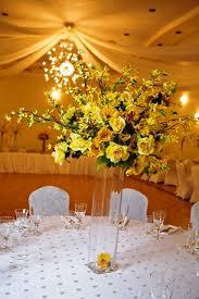 Yellow Bouquet Centerpiece Centerpieces Large Yellow Bouquet Centerpiece   Demers Banquet Hall