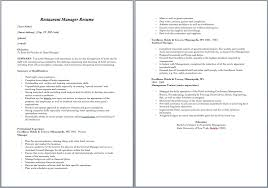Restaurant Manager Resume Template Unique 48 Free Restaurant Manager Resume Samples Sample Resumes