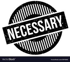 Necessary Design Necessary Rubber Stamp