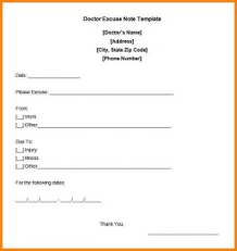 Montefiore Doctors Note Dr Excuse Template Template Business