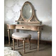 antique vanity table with drawer and oval mirror plus padded stool 17 designs of handy