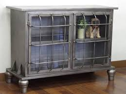 two steps of handsome sideboard tv stand glass door glass door cabinet antique finished steel