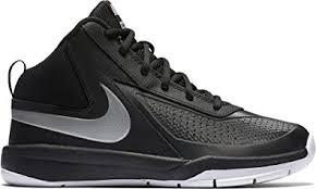 nike boys basketball shoes. nike boys\u0027 team hustle d 7 basketball shoe (gs), black, 3.5 nike boys shoes