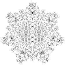 Coloring Pages Coloring Pages Flower Of Life Free For Adult To