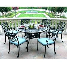 7 piece patio dining set round tables table sets meadow decor to with fire pit outdoor pi