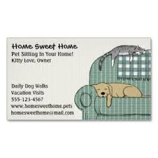 Pet Sitter Profile Examples Cute Dog And Cat Pet Sitting Animal Care Services Magnetic Business Card