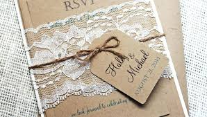 diy wedding invitations kits uk how to lace pocket with cork tag chic rustic free