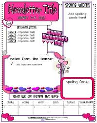 Free Teacher Newsletter Templates Free February Classroom Newsletter Template 11 Best Valentines Day