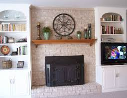 brick contemporary fireplace mantels and surrounds