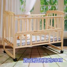 cypress wooden baby bed