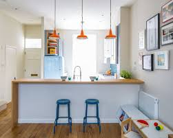 dining and kitchen design ideas. small contemporary open concept kitchen designs - l-shaped ceramic floor and multicolored dining design ideas