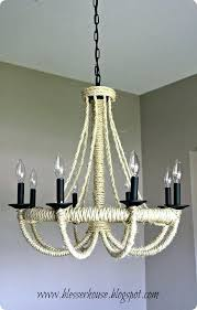 diy rope chandelier rope pendant light