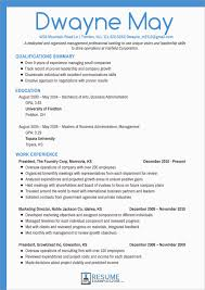 Awesome Free Business Resume Template 2018 Best Of Template