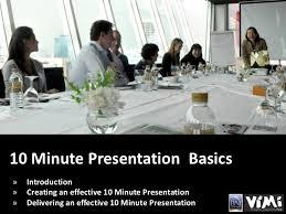 10 Minute Presentation Basics