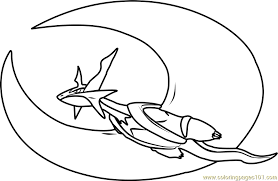 Small Picture Mega Salamence Pokemon Coloring Page Free Pokmon Coloring Pages