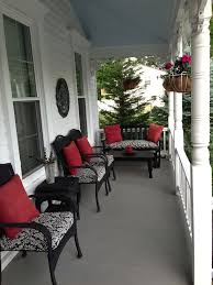 wicker furniture decorating ideas. black wicker front porch i spray painted my furniture and bought new decorating ideas r