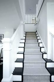 black and white stairs with runner stair ideas modern runners rugs s