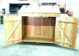 outdoor wooden garbage can storage bin shed trash plans outside t outdoor wooden garbage storage bin