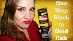 one step dark to light no bleach hair color l oreal hicolor golden ginger h15 you